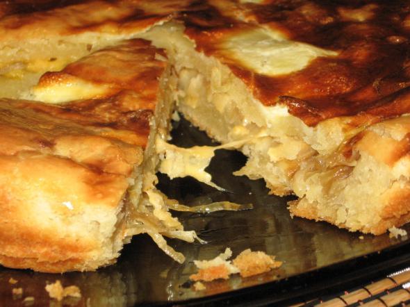 быстрый луковый пирог