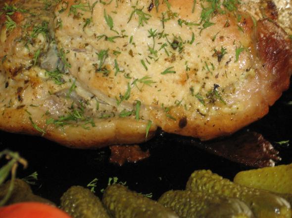 свинина запеченая в горчице