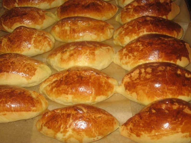 Пирожки с яйцом и луком рисом в духовке пошаговый рецепт 172