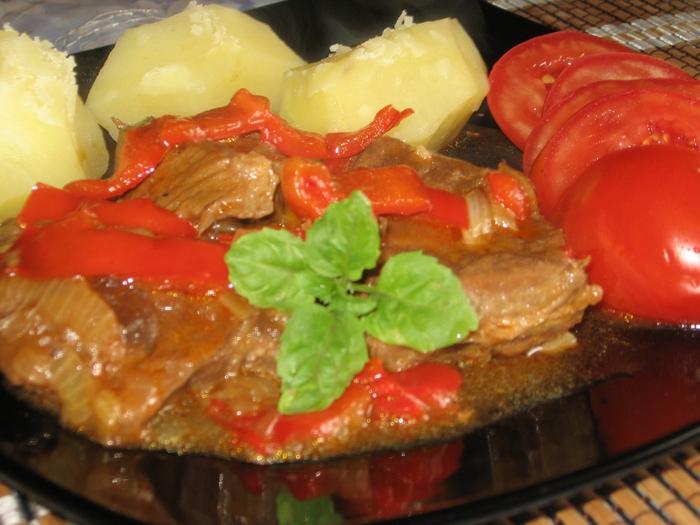рецепт мяса с перцем