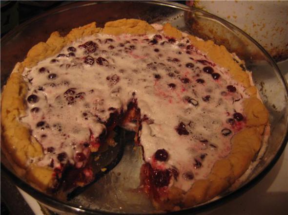 Пирог с клюквой и сметаной рецепт с пошаговым фото