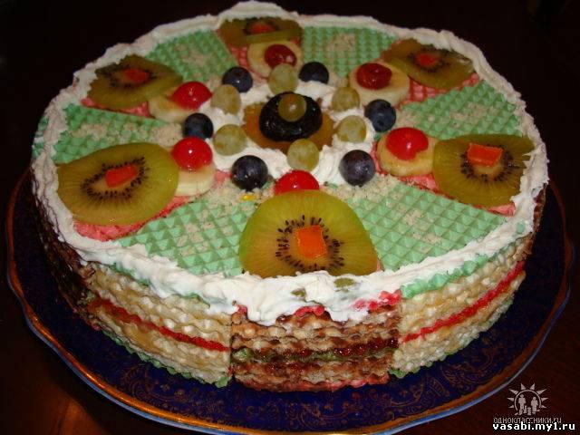 Торты из коржей своими руками рецепты с на день рождения
