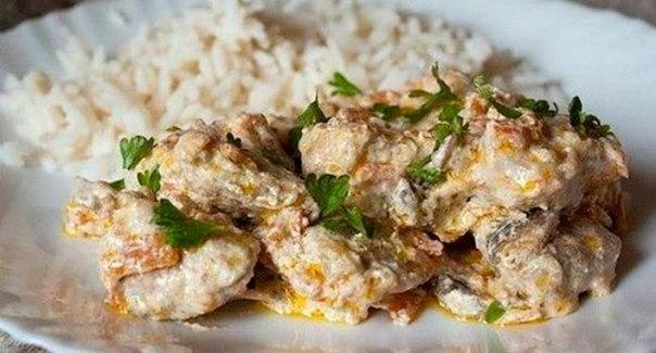 мясо с грибами рецепт с фото
