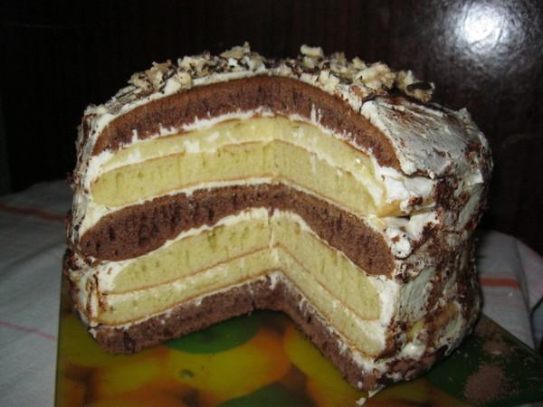 Торт на сковороде рецепт пошаговый с фото