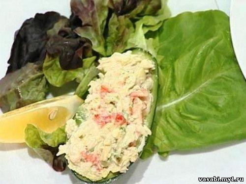 рецепт салата из авокадо грибов