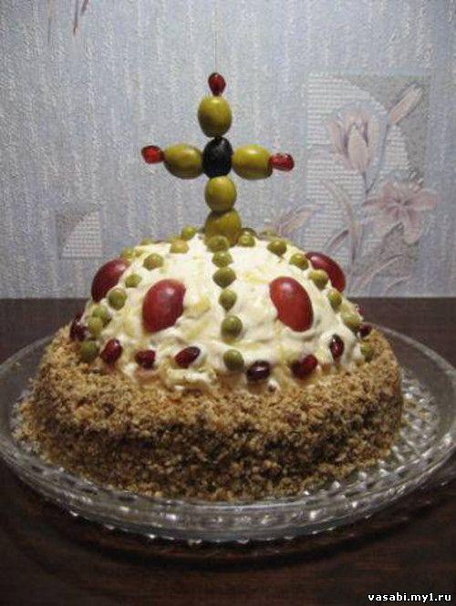 салаты пошаговые рецепты шапка мономаха