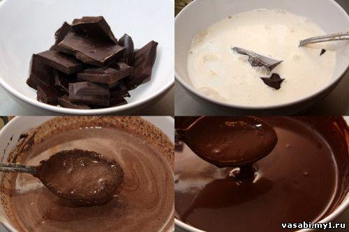 Шоколадный торт с ириской