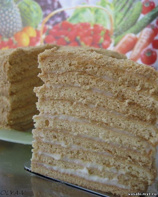 Торты рецепты с фото торт медовик
