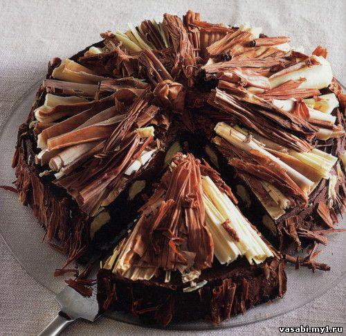 Шоколадный торт разноцветный торты
