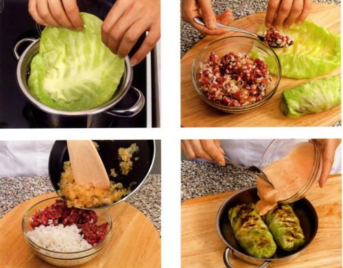 Что приготовить из фарша и капусты с пошагово